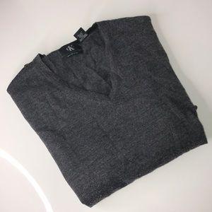 Men's Calvin Klein sweater color gray size XL